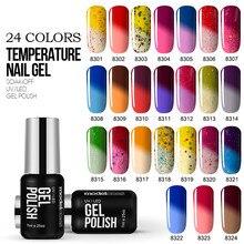 Modelone новые Цвет УФ Гели для ногтей Польский Температура изменение Цвет УФ Гель-лак 7 мл Термальность Хамелеон лака гель