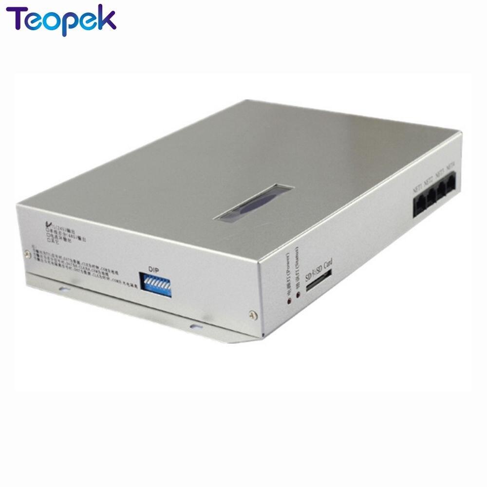 T-300K T300K carte SD en ligne VIA PC contrôleur de module de pixels led couleur rvb 8 ports 8192 pixels ws2811 ws2801 WS2812 6803 - 3
