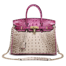 100% Genuine Leather Crocodile Shoulder bags Luxury Handbags Women Chain Bags Designer Fashion Lock Large Soft Tote Bags Bolsas
