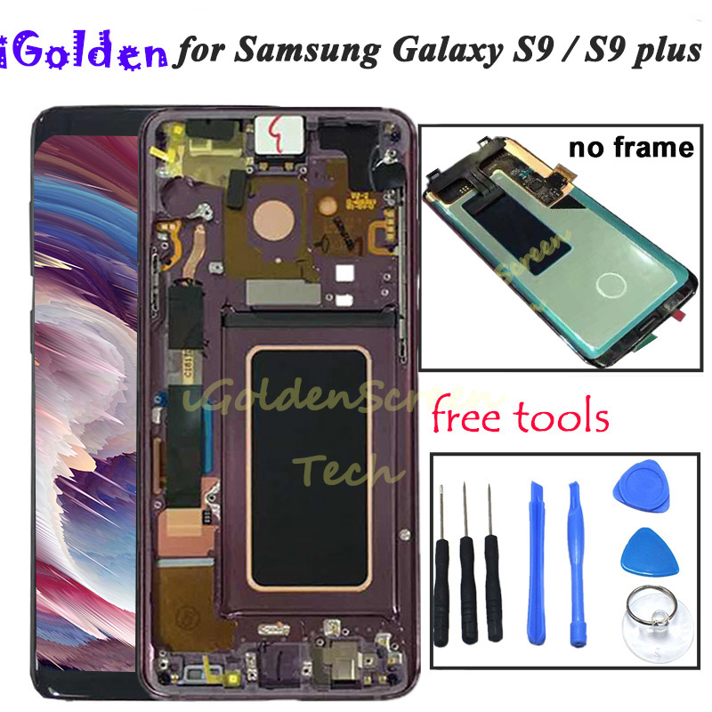 Super AMOLED LCD 5 8 For Samsung S9 LCD Display Touch Screen Digitizer Assembly For 6