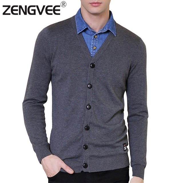 Men's Sweater Mink Cashmere Two Color Sweater Stockinette Stitch Men Cultivating Long-Sleeved Polo
