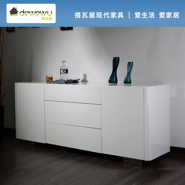 Take Tile Special White Paint Modern Minimalist Ikea Sideboard