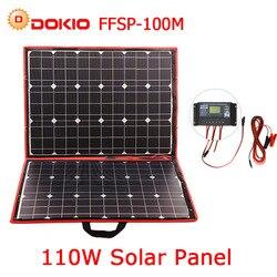 Dokio 100 w 110 w (55Wx2 piezas) flexible Foldble Mono Panel Solar para viajes en barco y en bote & RV portátil de alta calidad de Panel Solar de China