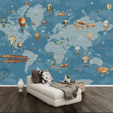 beibehang  papel de parede Custom wallpaper Cartoon world map background wall infantil