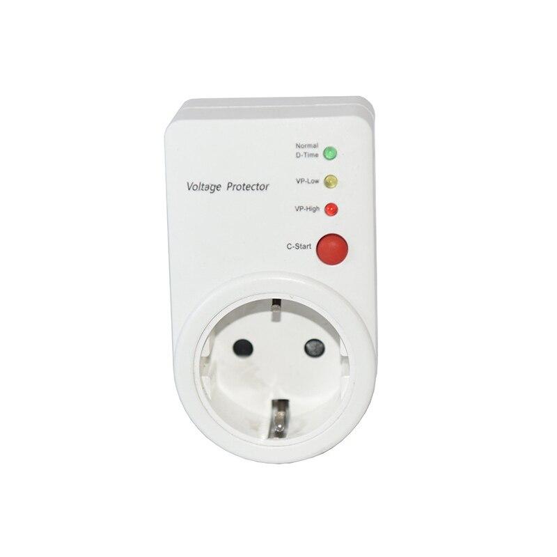 De voltaje automático conmutador AVS 16A 220 V de Protector de la UE enchufe tipo de seguro refrigerador Protector