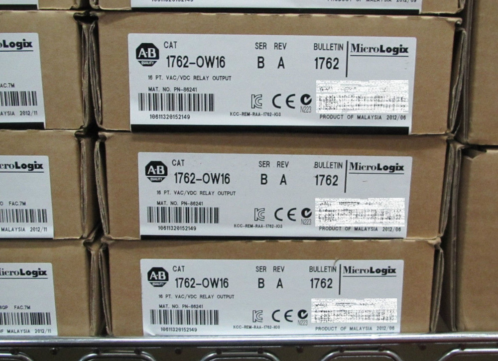 ALLEN BRADLEY MICROLOGIX 1762-OW16 FACTORY SEALED 2015 RELAY OUTPUT 1762-0W16 allen bradley 1763 l16dwd new and original factory sealed have in stock