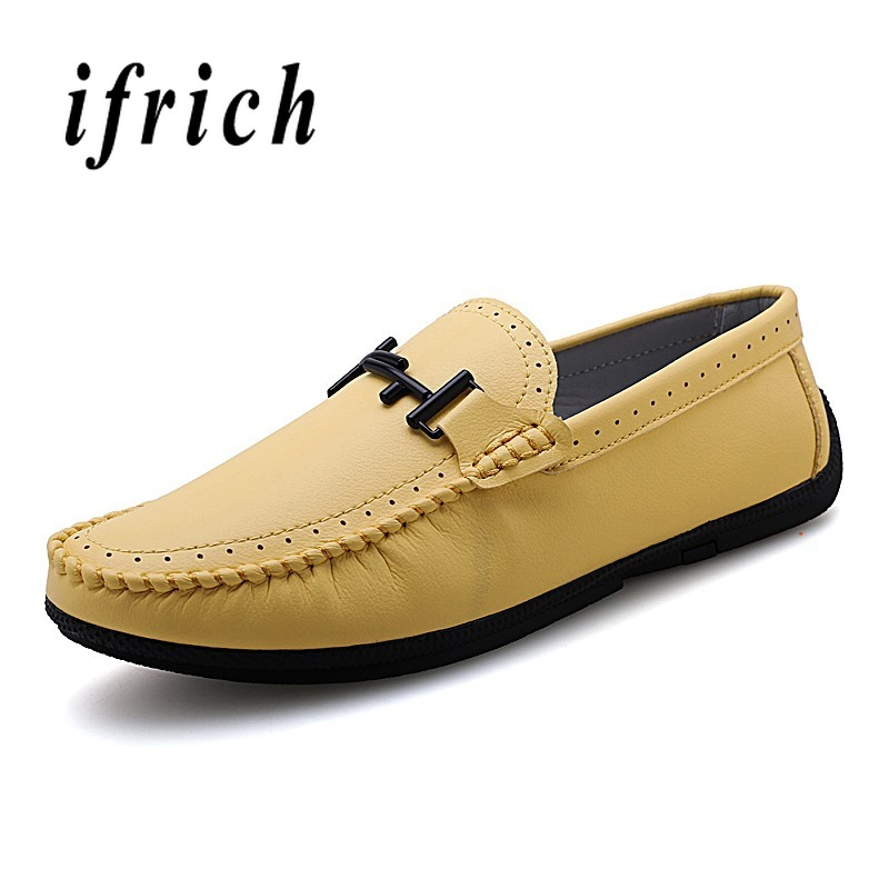 Men's Shoes Men's Casual Shoes Walking Driver Shoes Brown Blue Male Plus Size 45 46 47 Shoes Weight Light Casual Loafers Shoes Young Anti-slip Lazy Shoes Men