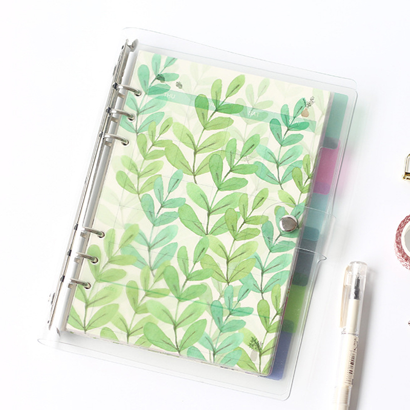 Creative A5 A6 A7 Colored Notebook Index Page Matte Cover Spiral Diary Planner Paper Note Book Category Pages Stationery cartoon animal deer a5 a6 6holes joural notebook s index page 5pcs set spiral diary book category page filofax planner accessory