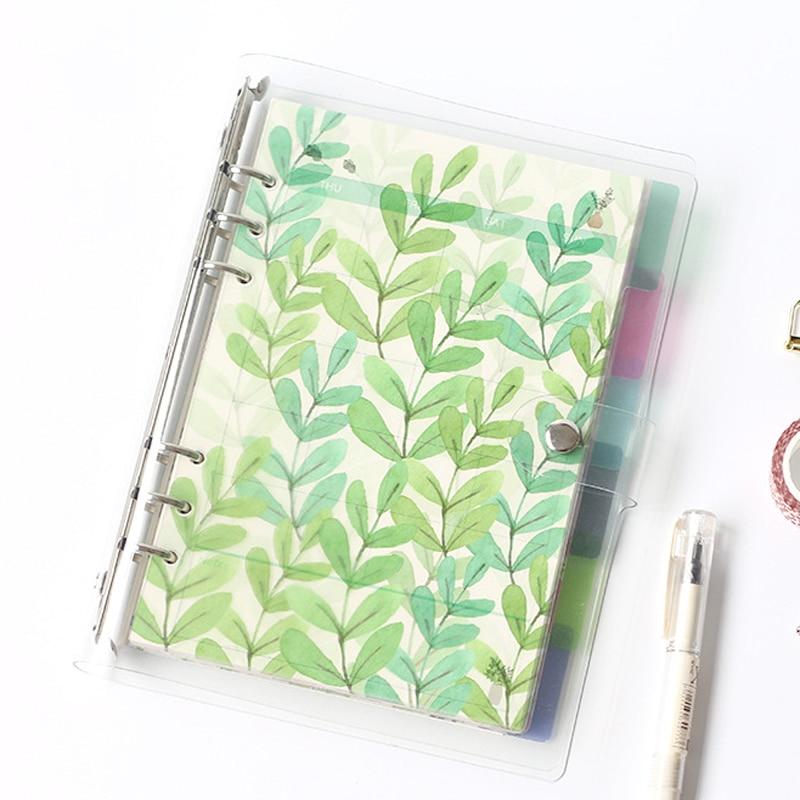 Креативный A5 A6 A7 цветной блокнот с индексом страницы матовый чехол дневник на спирали планировщик бумаги блокнот категории страниц Канцтов...