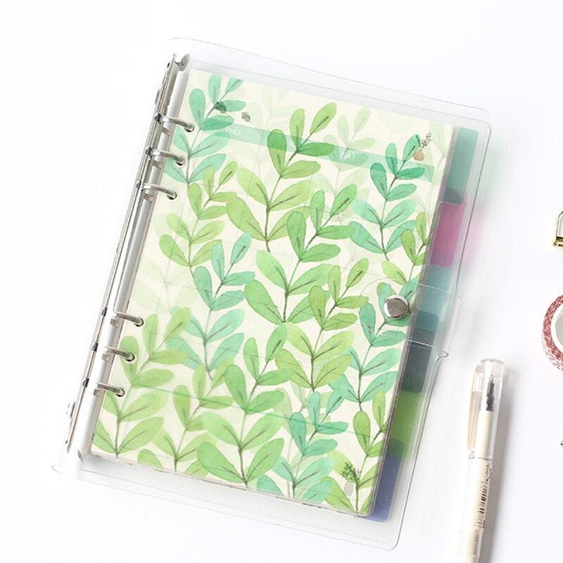 Criativo a5 a6 a7 colorido caderno índice página matte capa espiral diário planejador papel nota livro categoria páginas papelaria