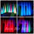 3 m de Alta Iluminación Cono Inflable/Aire Cono Para La Boda Decoración de La Etapa con luces LED RGB