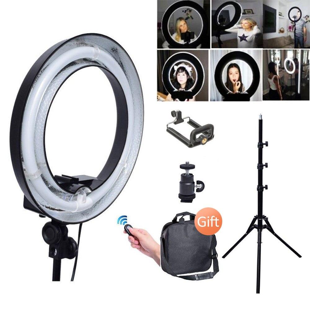 Studio Dimmable 400 w 34 cm Table Top Diva Anneau Lumière + Caméra Téléphone Titulaire pour La Photographie Photo Caméra Selfie éclairage 200 v ~ 240 v