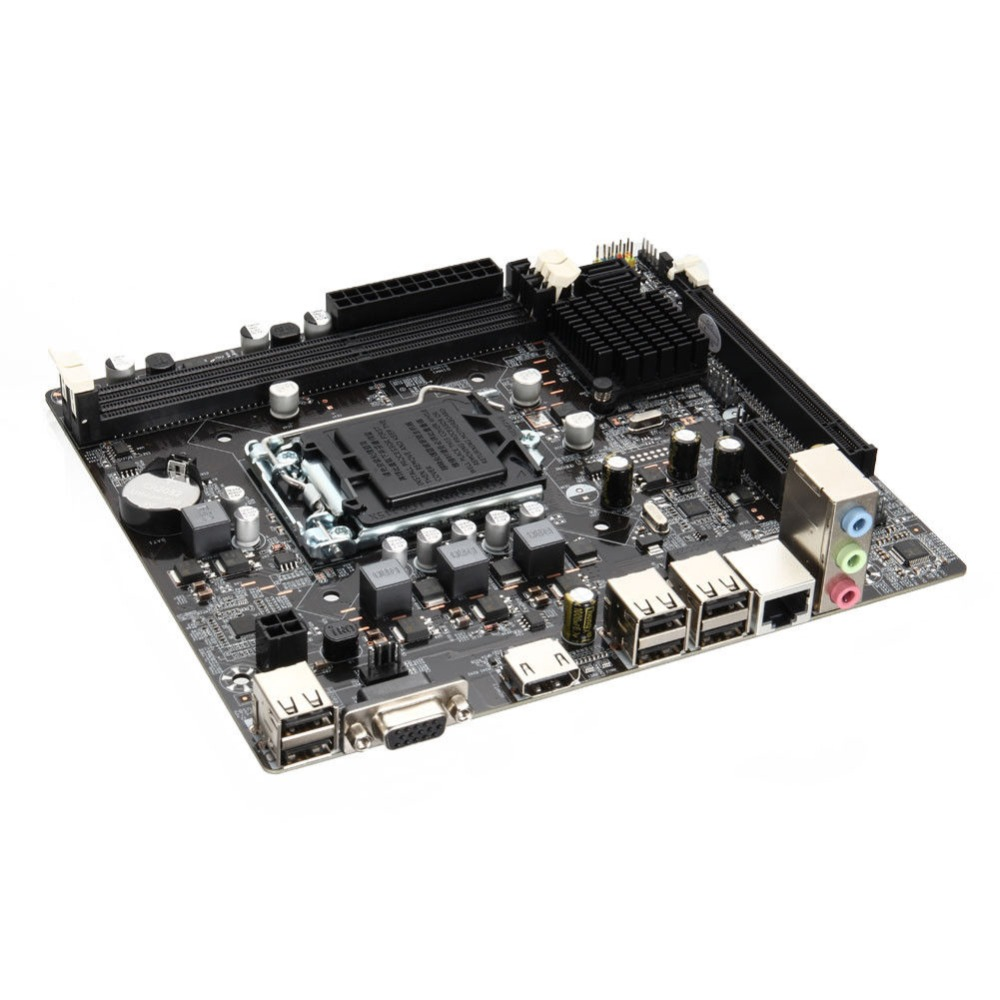 Mainboard Motherboard 1155 DDR3 PCIE Micro ATX for Intel H61 Socket LGA Support Core i7/i5/i3/Pentiun/CeleronMainboard Motherboard 1155 DDR3 PCIE Micro ATX for Intel H61 Socket LGA Support Core i7/i5/i3/Pentiun/Celeron