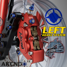 AKCND Universal Motorcycle 40mm brake Calipers With 4 piston For yamaha honda suzuki BWS X 125 RS100 TMAX CB150