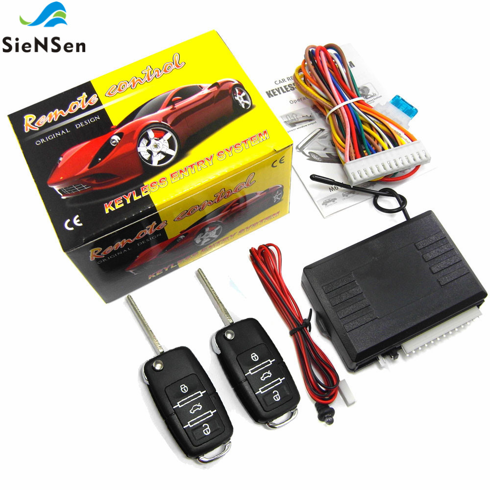 SieNSen Car Remote Central Kit Vehicle Door Lock Locking Alarm Keyless Entry System M616 8117B-in Alarm System Kits from Security & Protection