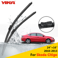 YIKA Windscreen Wipers Car Washer Rubber Glass Wiper Blades For Skoda Citigo 24 16 Fit Push