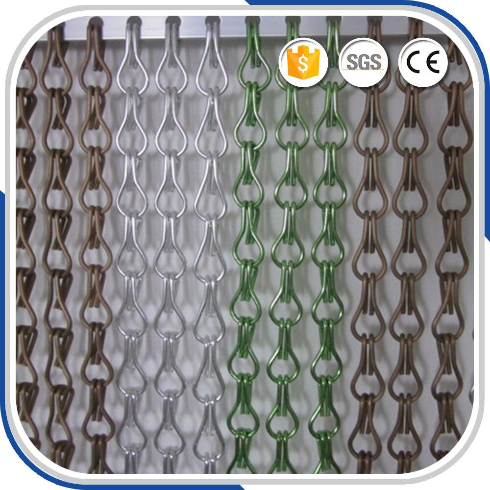 aluminium fliegengitter metall kettenglied tür vorhang in aluminium