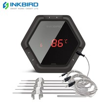 IBT 6X 6XS الرقمية الغذاء الطبخ بلوتوث اللاسلكية اللحوم شواء ميزان الحرارة مع ستة مجسات (تحقيقات الطعام ومسبار الفرن) التطبيق المجاني