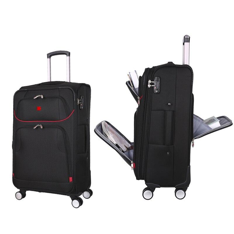 Biznes 20/24 cal wysokiej jakości wielofunkcyjny podróży walizki na bagaż wózek ręczny wózek na pokład samolotu walizki duża pojemność Rolling bagażu w Walizka na kółkach od Bagaże i torby na  Grupa 1