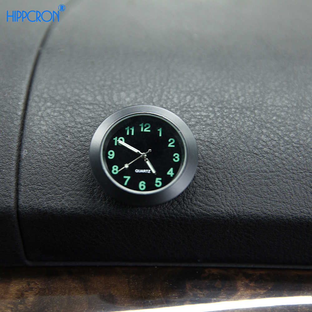 Hippcron Car Clock For Car Luminous Auto Gauge Air Vent Quartz Clock with clip Auto air outlet Watch Car styling