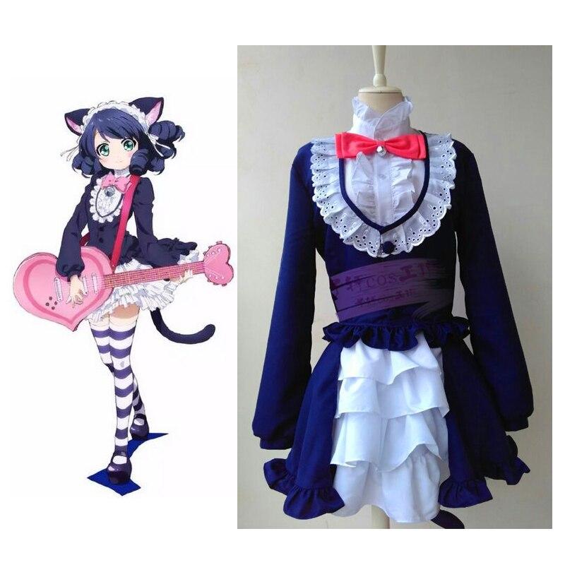 2016 показать рок Карнавальный Костюм Аниме косплей японского аниме костюм кошки одежда Женщина-кошка сексуальный костюм