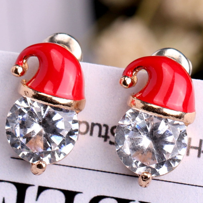 Christmas Earrings Fashion Women Santa Claus Snowman Lovely Tree Deer Sock Christmas Jewelry Christmas Earring For Women Gifts