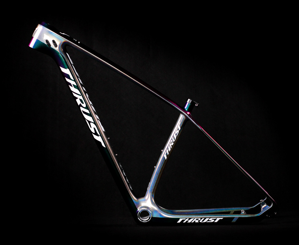 THRUST Karbon mtb Çerçeve 29er Mavi Çin'den bisiklet Çerçeve 27.5er 15 17 19 disk fren BSA BB30 bisiklet iskeleti seti Kulaklık Kelepçe