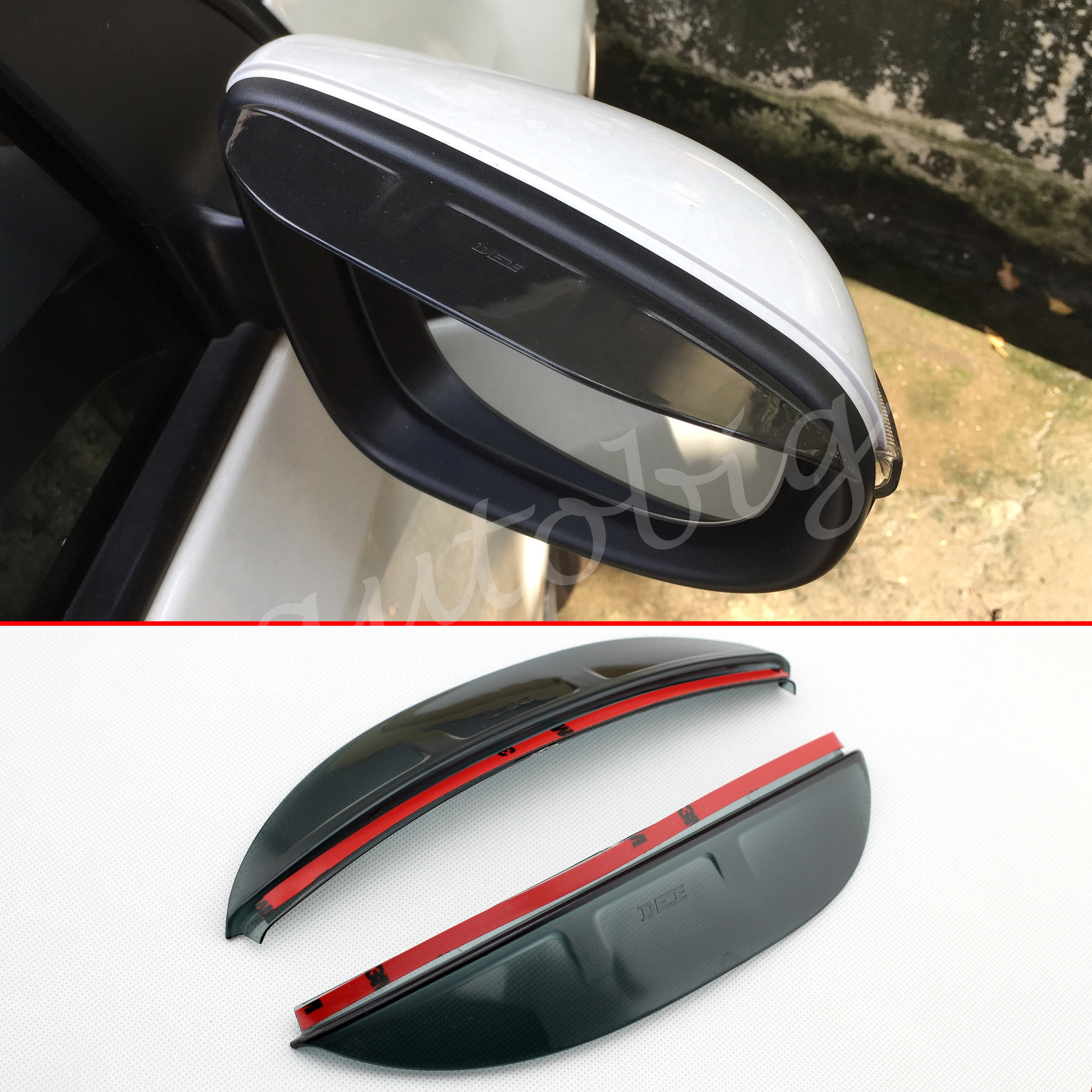 Rearview side mirror rain shield visor protective guard for ford escape kuga 2013 2014 2015 2016