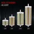 R7s lâmpada Led 10 w 20 w 25 w 30 w 220 V 5730 lâmpada Led de 78 mm 118 mm 135 mm 189 mm Horizontal Plug luz lâmpada do gramado holofote