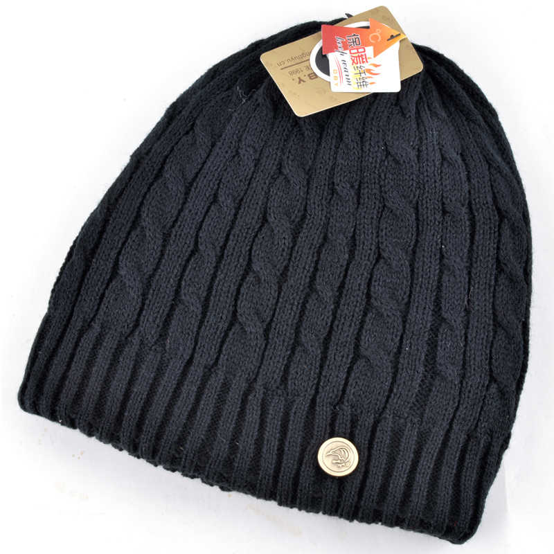 7aceead1649 Autumn and winter hats for men dual purpose knitted warm beanies for women  casual plus velvet