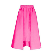 High End Satin High Low Fashion Skirts For Pretty Lady 2017 From Length 68 CM Back