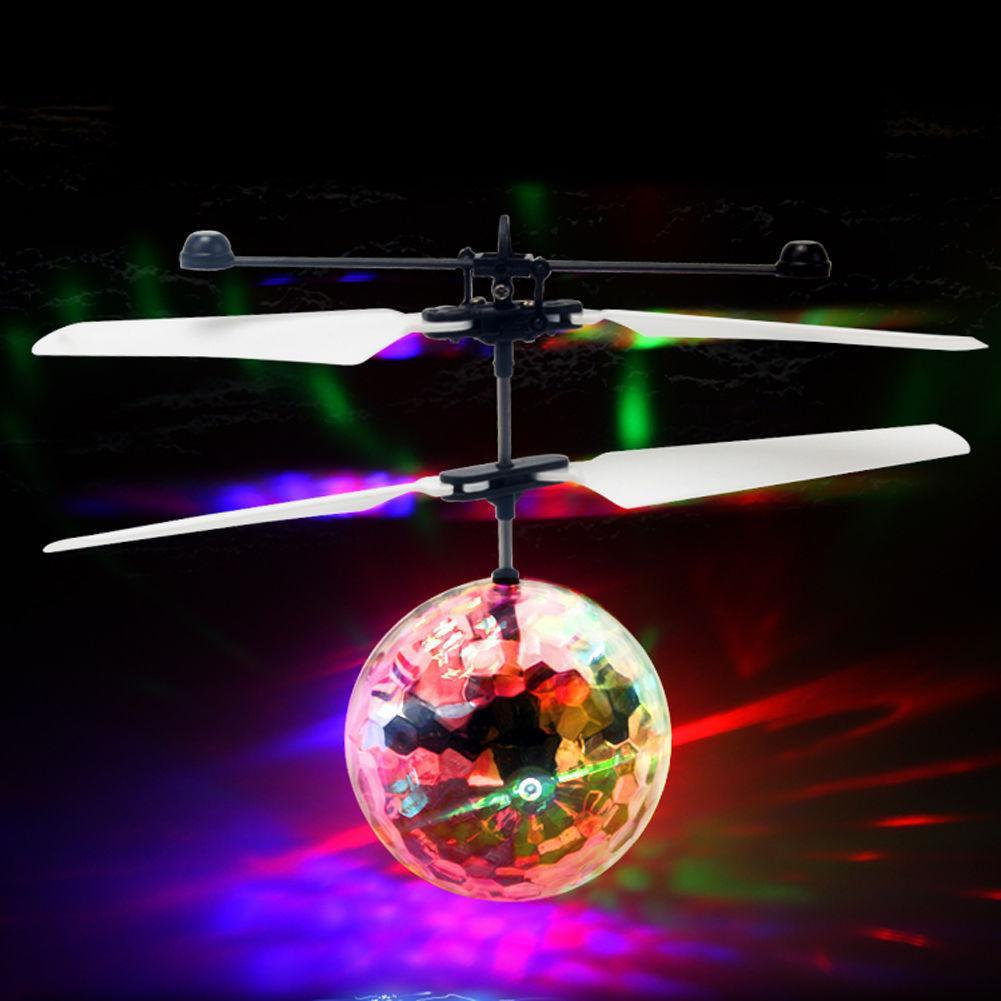 Luminous Rc Flying Balls Toys Kid's Mini Led Drone Helicopter Infrared Induction Aircraft Remote Control Free Shipping
