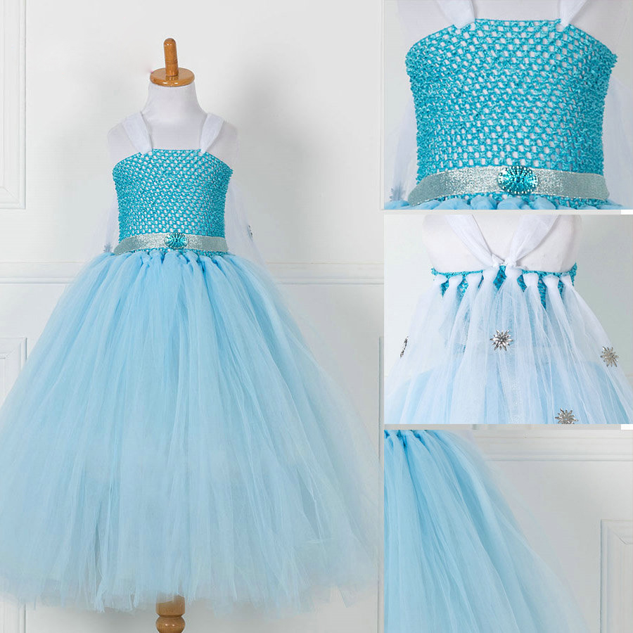 Girls Princess Cinderella Costume Handmade Summer Tutu Dress ...