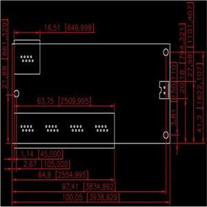 Image 5 - OEM mini interruptor mini porta 5 10 100/100mbps switch de rede 5 12 v ampla tensão de entrada inteligente ethernet rj45 pcb módulo com led embutido