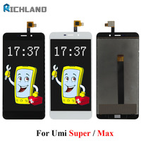 For Umi Super For Umi Max LCD Display Touch Screen Original LCD Digitizer Glass Panel Replacement