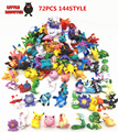 72 unids Pokeball Japonés figuras meter lun pikachu charizard figura figuras doll lote para niños de artículos para fiestas decoración