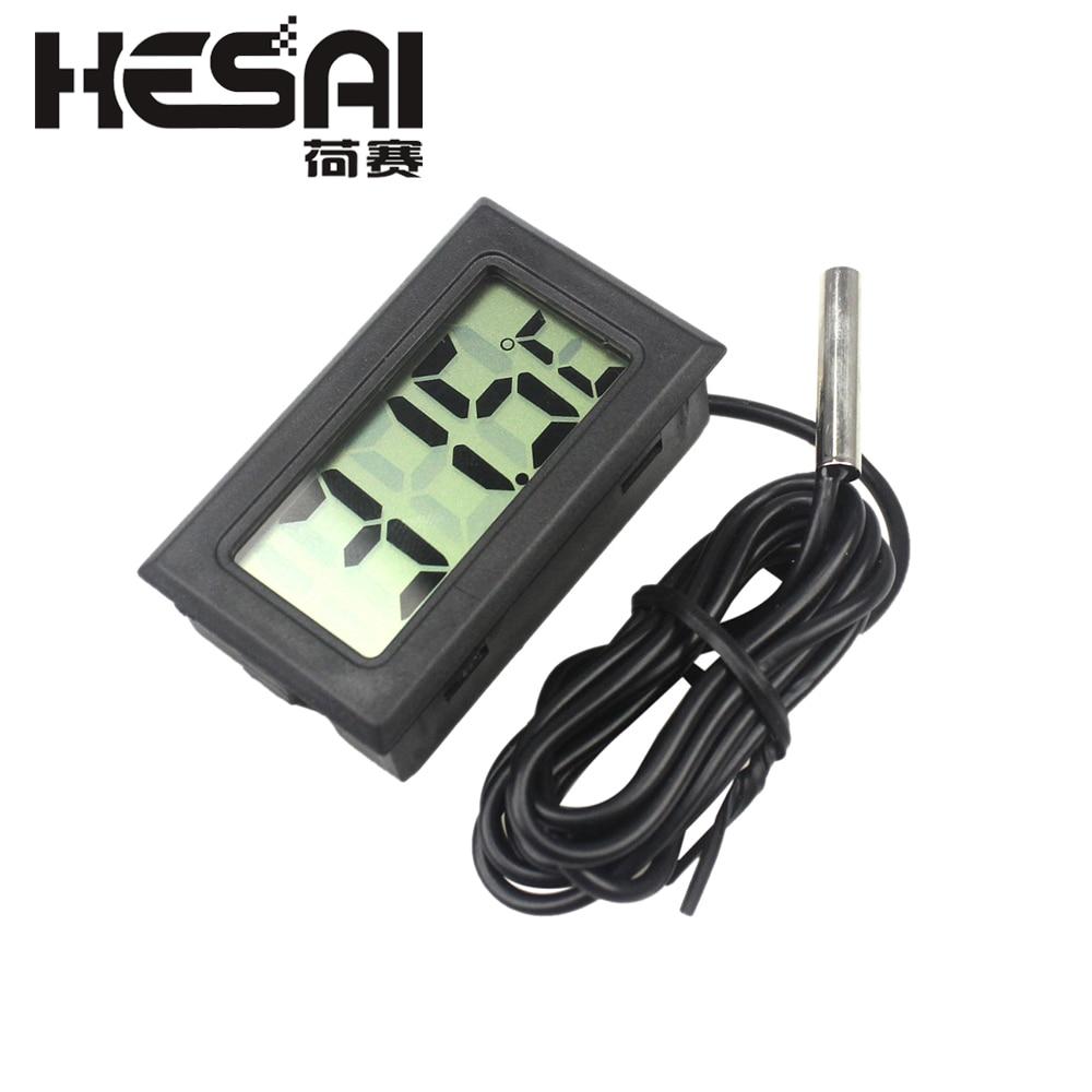 Mini LCD Digital termometer Hygrometer Kylskåp Frys Tester Temperatur Luftfuktighet Meter Detektor