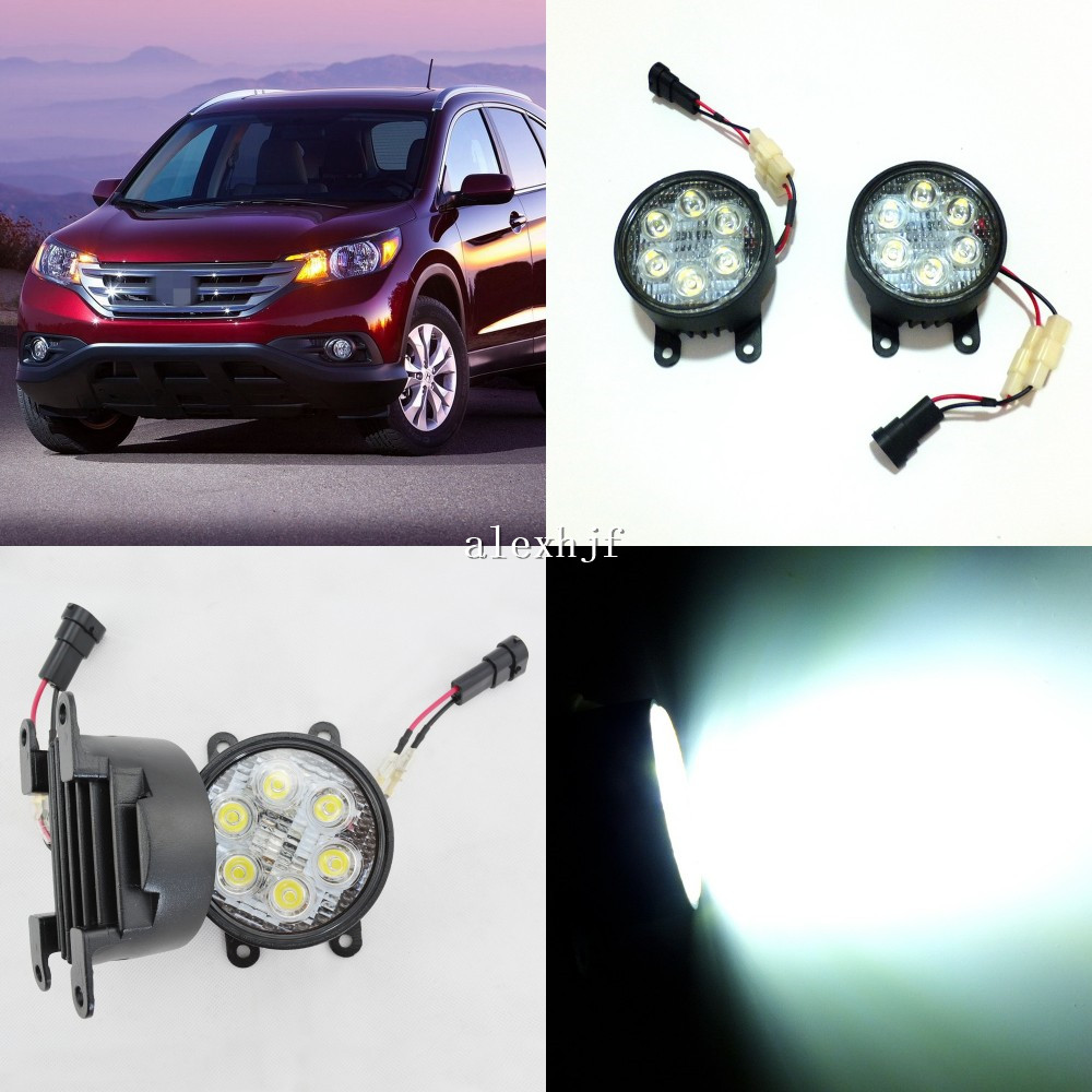 July King 18W 6LEDs H11 LED Fog Lamp Assembly Case for Honda CRV CR-V 2012~2015, 6500K 1260LM LED Daytime Running Lights new