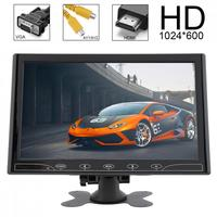 10.1 Inch TFT LCD Color Car Rear View Monitor 2 Video Input DVD VCD Headrest Vehicle Monitor Support Audio Video HDMI VGA