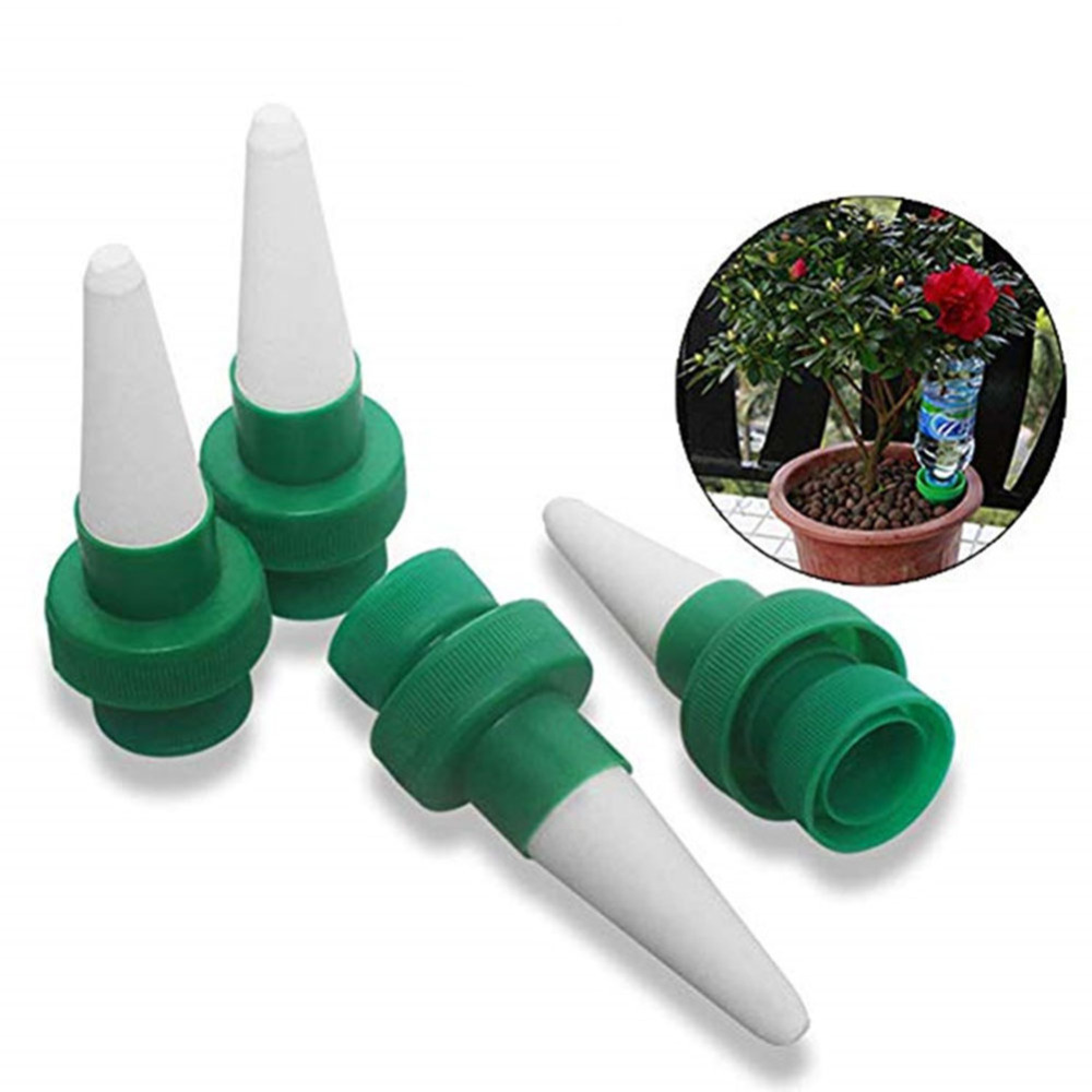 4pcsVacation Plant Waterer Ceramic Self Watering Spikes Automatic Flower Drip Irrigation Watering Stakes System for indoor Plant
