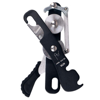 23KN Aluminum magnesium Alloy Self braking Stop Descender Gear for 10 12mm Rope Climbing Caving Rappelling