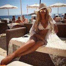 lace Diamond Crystal Brazilian rhinestone push up bikini