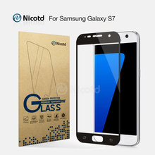 Nicotd 2.5D Full Cover Tempered Glass For Samsung S7 G9300 G930F G930FD G930W8 5.1″ Anti-Shock Toughened Screen Protector Film
