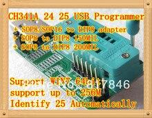 Free shipping Bios Board MX25L6405 W25Q64 USB Programmer LCD Burner CH341A Progammer for 24 25 Series+3 IC adapter Socket SOP8