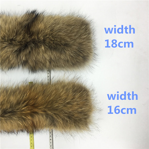 Image 5 - Real Raccoon Fur Collar Luxury Natural Fur 100% Scarf Desigual Scarves Foulard Neck Warmers Hooded Women Winter Down Coat #BF01