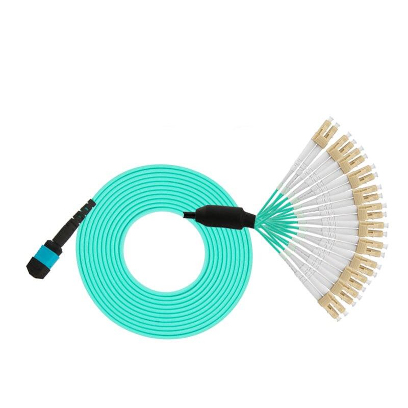 MPO LC 24 ядра MPO волоконно оптический патч корд кабели 3 м