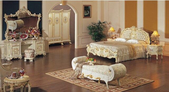 European rustic wood dresser bedroom furniture mirror
