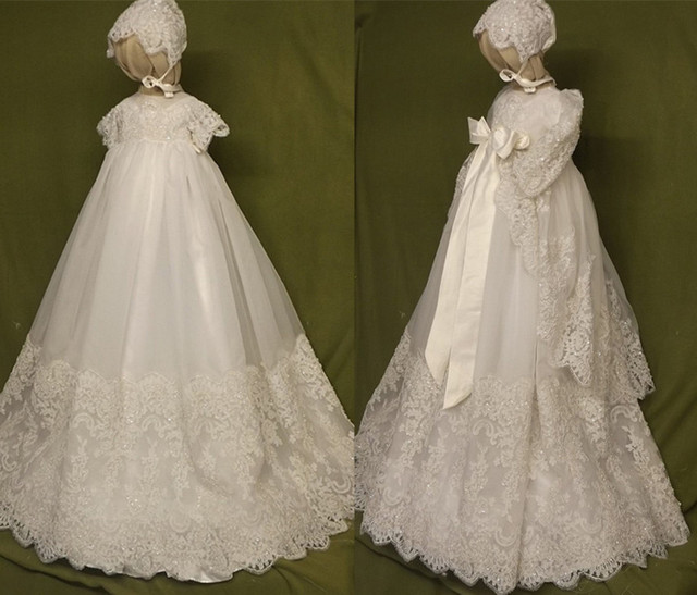 White/Ivory Lace Baby Dress Baptism Gowns for Boys and Girls ...