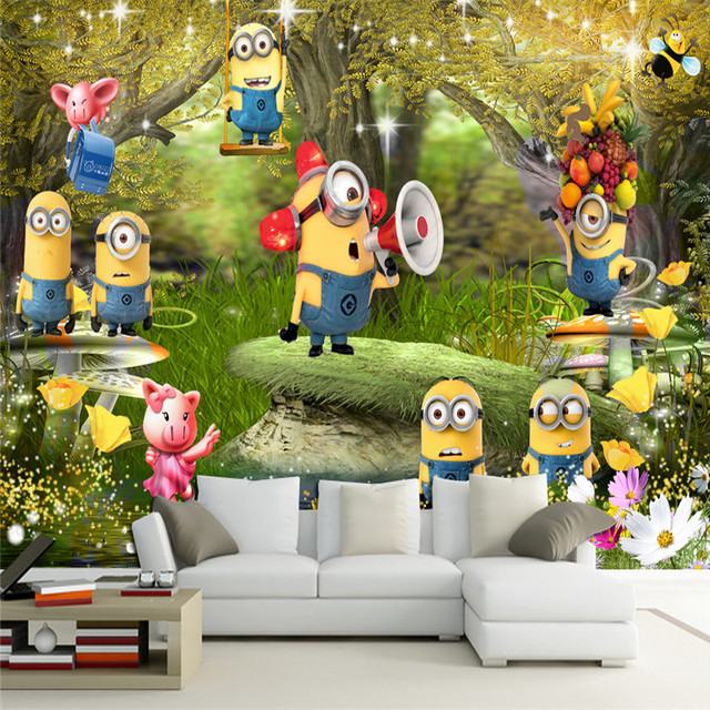 Wall Panel Wallpaper Animated Cartoon Characters Background Modern