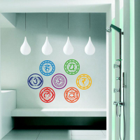 Chakras Vinyl Stickers (set of 7 pieces)- Health Aum Meditation Yoga Om Meditation Symbol Art Wall Decals home decoration